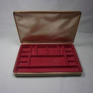 Mele Jewelry - Vintage Mele Tan Velvet Jewelry Box